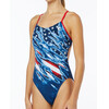 TYR Live Free Cutoutfit Bathing Suit Women red/white/blue